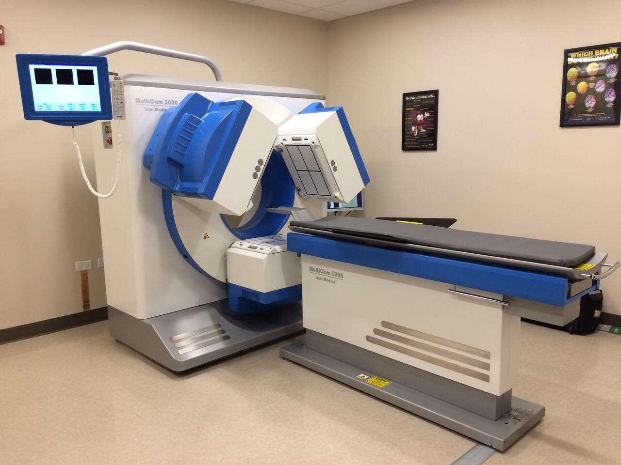 En 3 hovedet SPECT scanner kan lave en præcis scanning af hjernen på blot 15-20 min