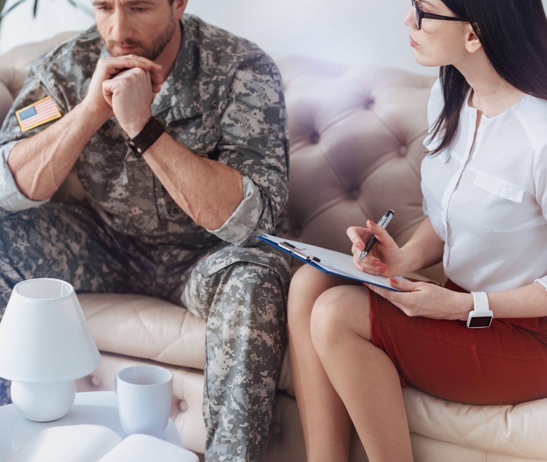 PTSD-ramt soldat